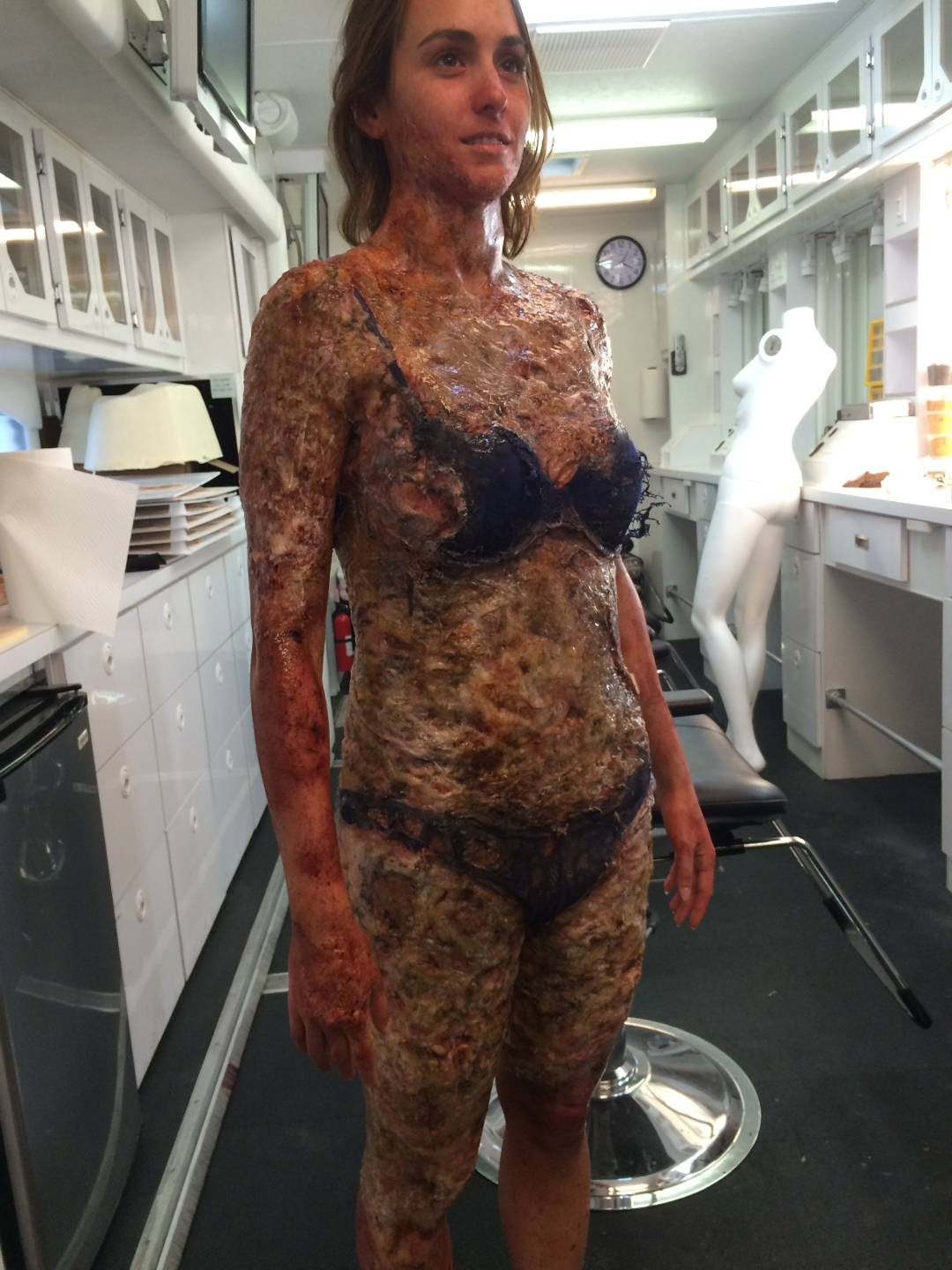 code black burned body prosthetics  u2013 vincent van dyke effects